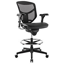 WorkPro; 9000 Series Quantum Stool Mid-Back Chair, Black