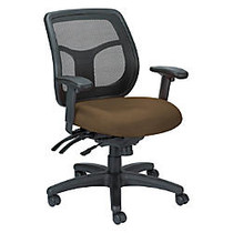 Raynor; Eurotech Apollo VMFT9450 Mid-Back Multifunction Manager Chair, 39 1/2 inch;H x 26 inch;W x 20 inch;D, Beige Ratio Hickory Fabric