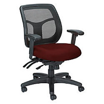 Raynor; Eurotech Apollo VMFT9450 Mid-Back Multifunction Manager Chair, 39 1/2 inch;H x 26 inch;W x 20 inch;D, Burgundy Ratio Port Fabric