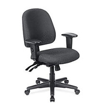 WorkPro; 2000 Series Multifunction Fabric Mid-Back Chair, Black/Black