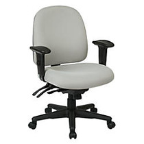 WorkPro; 2000 Series Multifunction Fabric Mid-Back Chair, Black/Gray
