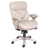 Serta; Smart Layers™ Verona Manager Chair, Ivory/Champagne
