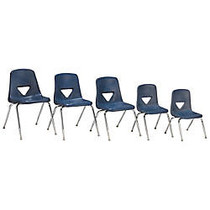 Scholar Craft™ 120 Series Student Stacking Chairs, Extra Large, 31 1/2 inch;H x 20 inch;W x 24 inch;D, Navy, Set Of 5
