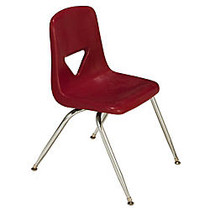 Scholar Craft™ 120 Series Student Stacking Chairs, Large, 30 1/2 inch;H x 20 inch;W x 22 1/2 inch;D, Burgundy, Set Of 5