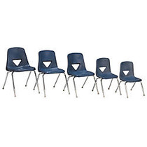 Scholar Craft™ 120 Series Student Stacking Chairs, Large, 30 1/2 inch;H x 20 inch;W x 22 1/2 inch;D, Navy, Set Of 5