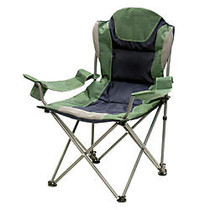 Stansport 3 Position Reclining Oversize Arm Chair, Green/Blue