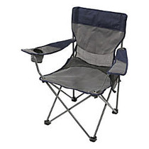 Stansport Apex Deluxe Arm Chair, Gray/Blue