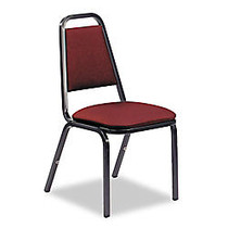 Virco; 8926-Series Vinyl Upholstered Stack Chairs, 34 1/4 inch;H x 18 inch;W x 22 inch;D, Wine, Pack Of 4