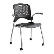 Safco; Sassy Guest Chairs, Black/Silver, Set Of 2