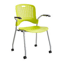 Safco; Sassy Guest Chairs, Grass Green/Silver, Set Of 2
