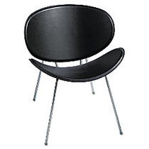Safco; Sy™ Leather Guest Chair, Black/Chrome