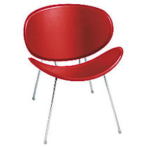 Safco; Sy™ Leather Guest Chair, Red/Chrome