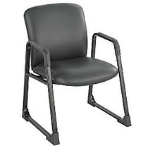 Safco; Uber Fabric Guest Chair, 35 3/4 inch;H x 27 1/4 inch;W x 29 1/2 inch;D, Black Frame, Black (vinyl) Fabric