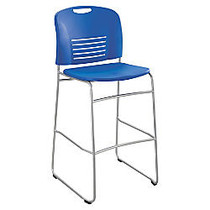 Safco; Vy Bistro Sled Base Chair, 45 inch;H x 18 inch;W x 22 inch;D, Lapis