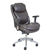Serta; Wellness by Design AIR™ Commercial Series 200 Task Puresoft; Faux Leather Task Chair, Brown