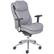 Serta; Wellness by Design AIR™ Commercial Series 200 Task Puresoft; Faux Leather Task Chair, Grey