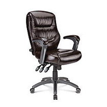Style@Work by Thomasville; Wellzer Mid-Back Bonded Leather Task Chair, Dark Brown