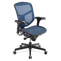 WorkPro; Quantum Mesh Mid-Back Task Chair, 43 3/4 inch;H x 29 1/2 inch;W x 28 inch;D, Black Frame, Blue Fabric