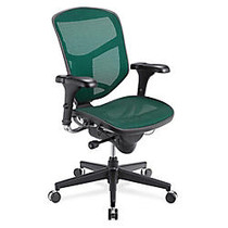WorkPro; Quantum Mesh Mid-Back Task Chair, 43 3/4 inch;H x 29 1/2 inch;W x 28 inch;D, Black Frame, Green Fabric