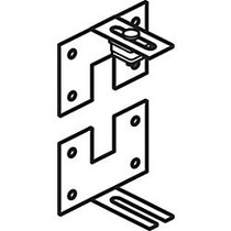 basyx by HON Versé; Partitions, Wall-Mount Connector, 1 inch;H x 2 inch;W x 1 1/4 inch;D