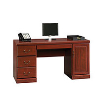 Sauder; Heritage Hill Computer Credenza, 30 1/8 inch;H x 59 1/8 inch;W x 20 1/2 inch;D, Classic Cherry