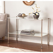 Southern Enterprises Paschall Console Table, Rectangular, 29 3/4 inch;H x 42 1/2 inch;W x 18 1/2 inch;D, Clear/Silver