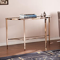 Southern Enterprises Thessaly Console Table, Crescent, 29 1/2 inch;H x 47 1/2 inch;W x 18 inch;D, Metallic Gold