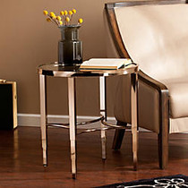 Southern Enterprises Thessaly End Table, Round, 22 1/4 inch;H x 21 3/4 inch;W x 21 3/4 inch;D, Metallic Gold