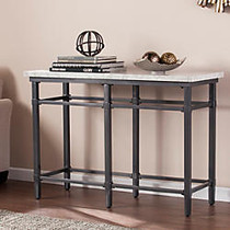 Southern Enterprises Tulane Console Table, Rectangular, 30 1/2 inch;H x 43 inch;W x 17 inch;D, Faux Marble/Black