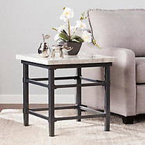 Southern Enterprises Tulane End Table, Square, 21 1/4 inch;H x 21 1/4 inch;W x 21 1/4 inch;D, Faux Marble