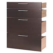 Tvilum-Scanbirk Prima Drawer Kit For Bookcases, 2 Small Drawers/2 File Drawers, Coffee