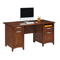 Realspace; Marbury Collection Executive Desk, 29 1/3 inch;H x 60 inch;W x 29 1/2 inch;D, Auburn Brown