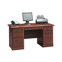 Sauder; Heritage Hill 60 inch; Executive Desk, 29 inch;H x 59 1/2 inch;W x 29 1/2 inch;D, Classic Cherry With Laminated Cherry Top