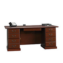 Sauder; Heritage Hill Executive Desk, 29 3/4 inch;H x 70 1/2 inch;W x 35 1/2 inch;D, Classic Cherry