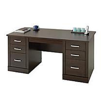 Sauder; Office Port Executive Desk, 29 1/2 inch;H x 65 1/2 inch;W x 29 1/2 inch;D, Dark Alder