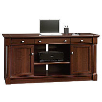 Sauder; Palladia Collection Credenza With Slide-Out Desktop, 29 3/5 inch;H x 62 inch;W x 22 inch;D, Select Cherry