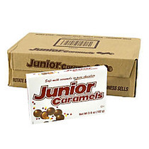 Junior Mints Caramels Theater Box, 3.6 Oz, Pack Of 12 Boxes
