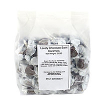 The Lovely Candy Company Lovely Chocolate Caramels, 2 Lb, Swirl