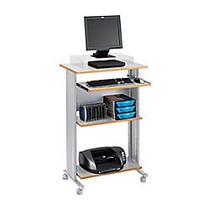 Safco; Fixed Height Stand-Up Workstation, 45 inch;H x 29 1/2 inch;W x 22 inch;D, Gray
