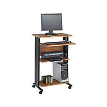 Safco; Fixed Height Stand-Up Workstation, 45 inch;H x 29 1/2 inch;W x 22 inch;D, Medium Oak