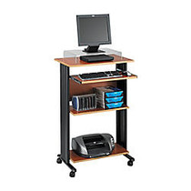 Safco; Fixed-Height Stand-Up Workstation, 45 inch;H x 29 1/2 inch;W x 22 inch;D, Cherry