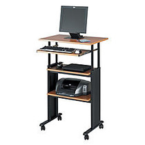 Safco; Muv™ Adjustable Stand-Up Workstation, 35 inch;-49 inch;H x 29 inch;W x 22 inch;D, Black/Cherry
