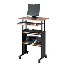 Safco; Muv™ Adjustable Stand-Up Workstation, 35 inch;-49 inch;H x 29 inch;W x 22 inch;D, Black/Oak