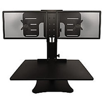 Victor; High Rise™ DC350 Dual Monitor Sit-Stand Desk Converter, 15 1/2 inch;H x 28 inch;W x 23 inch;D, Black