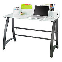 Safco; Xpressions Frosted Computer Workstation, 37 inch;H x 47 inch;W x 23 inch;D, Black