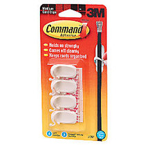 3M™ Command™ Damage-Free Cord Clips, Medium, White, Pack Of 4