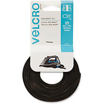 VELCRO; Brand Reusable Self-Gripping Cable Ties - Tie - Black - 25 Pack