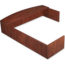 Lorell; Essentials 69000 L-Shaped Reception Counter, Cherry