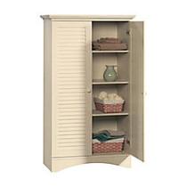 Sauder; Harbor View Storage Cabinet, 61 inch;H x 35 1/2 inch;W x 16 3/4 inch;D, Antiqued White