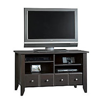 Sauder; Shoal Creek Flat Panel TV Stand For TVs Up To 42 inch;, 26 7/8 inch;H x 46 5/8 inch;W x 18 1/2 inch;D, Jamocha Wood